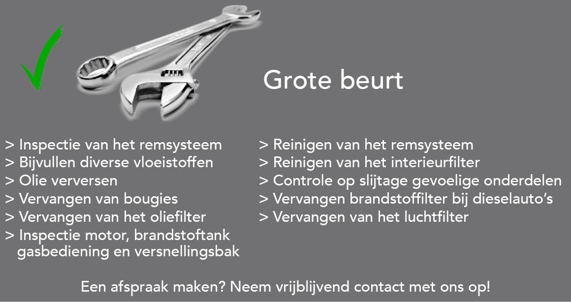 Airco auto service - grote-beurt
